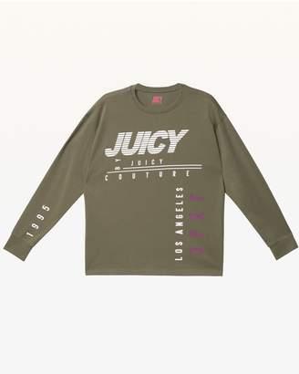 Juicy Couture JXJC Olive Multi-Juicy Long Sleeve Tee