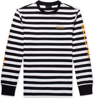 Belstaff Sophnet Slim-Fit Logo-Print Striped Cotton-Jersey T-Shirt - Black