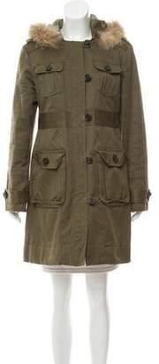 Marc by Marc Jacobs Faux Fur Trimmed Coat