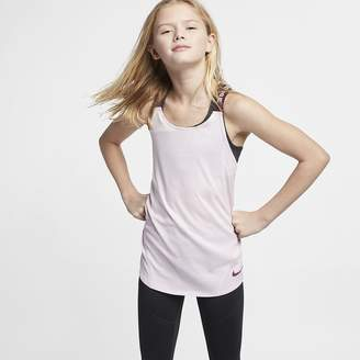 44ac7a959 Nike Big Kids' (Girls') Training Tank Top ...