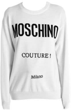 Moschino Wool Intarsia Logo Sweater