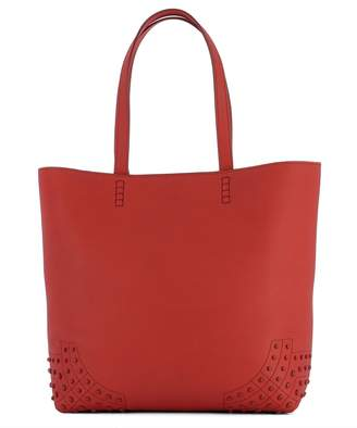 Tod's Red Leather Shoulder Bag