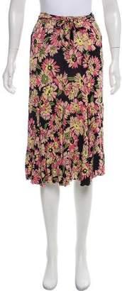 Blumarine Floral Print Knee-Length Skirt