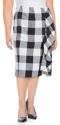 Lord & Taylor Plus Plaid Pencil Skirt