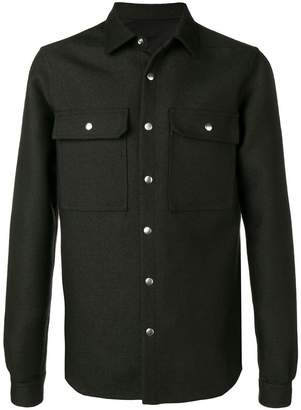 Rick Owens Outer pointed collar shirt