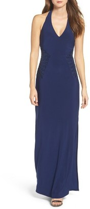 Women's Laundry By Shelli Segal Embellished Halter Gown $295 thestylecure.com