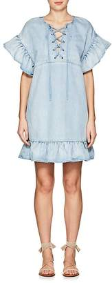 Ulla Johnson Women's Marianna Washed Denim Minidress