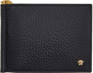 Versace Black Money Clip Medusa Wallet $375 thestylecure.com