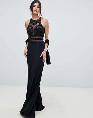 Forever Unique embellished cut out maxi dress