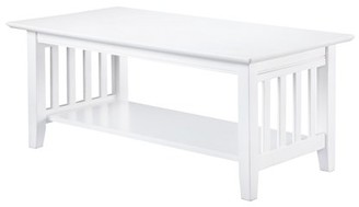 Atlantic Furniture Mission Coffee Table White