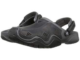 Crocs Swiftwater Leather Camp Clog Men's Shoes