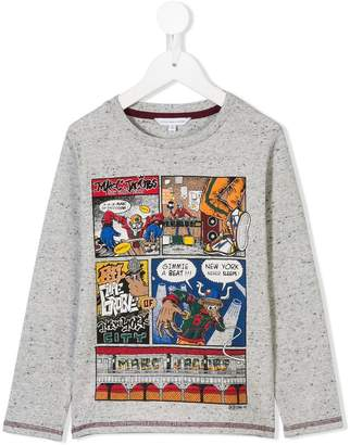 Little Marc Jacobs (リトル マーク ジェイコブス) - Little Marc Jacobs comics print long-sleeved T-shirt