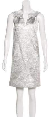 Alberta Ferretti Silk Metallic Dress