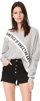 Wildfox Americas Sweetheart Sweatshirt $108 thestylecure.com