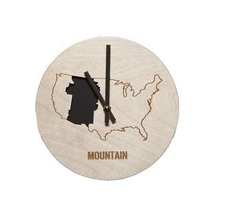 Wilson Reed Design Mountain Time Zone Wall Clock