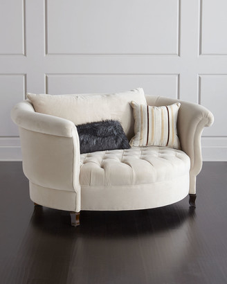 Haute House Harlow Ivory Cuddle Chair