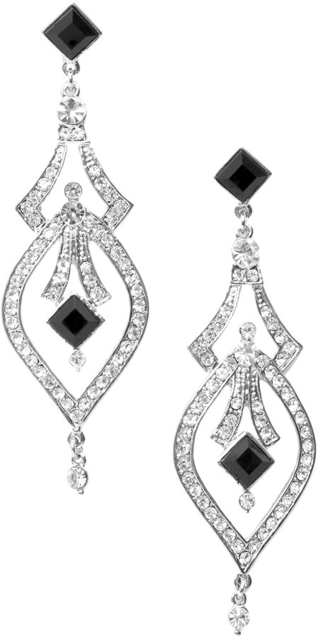 ASOS Premium Stone Encrusted Deco Drop Earring (+)