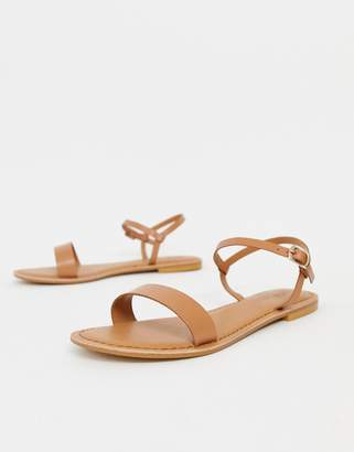 0618024c03e723 Asos Design DESIGN Flume leather flat sandals