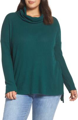 BP Cowl Neck Waffle Knit Tunic