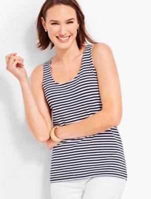 Talbots Pima Cotton Blend Tank - Stripe