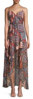 BCBGeneration Ruffled Maxi Dress
