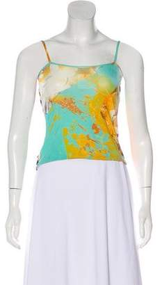 Just Cavalli Printed Sleeveless Crop Top