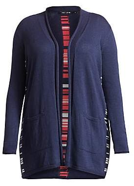 Nic+Zoe Plus Plus Women's Back At It Open Front Cardigan Sweater