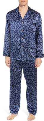 Majestic International Sapphire Silk Pajama Set