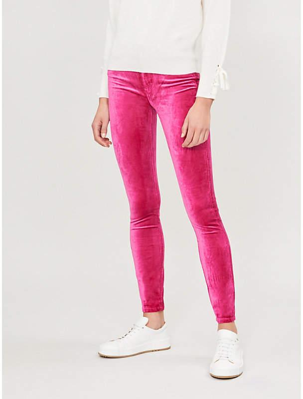 Hoxton skinny high-rise velvet jeans