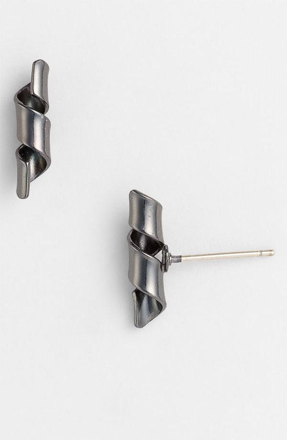 Marc by Marc Jacobs 'Metal Ribbons' Twist Stud Earrings