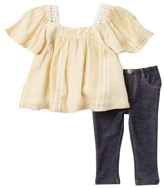 Jessica Simpson Top & Jeggings Set (Baby Girls)