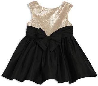 Pippa & Julie Girls' Sequin Contrast Bow Dress - Baby
