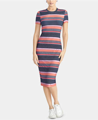 Rachel Roy Striped T-Shirt Bodycon Dress