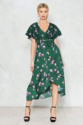 Nasty Gal Leaf You to It Floral Dress