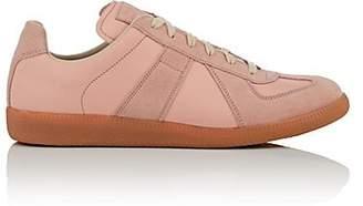 "Maison Margiela Men's ""Replica"" Leather & Suede Sneakers - Rose"