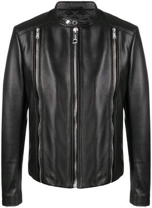 Les Hommes fitted zip jacket