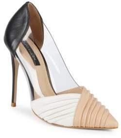 Ava & Aiden Color Blocked Point Toe Pumps