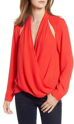 Trouve Cutout Surplice Top