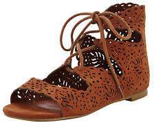 Very Kiki Older Girls Ghillie Tie Shoes