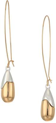 Robert Lee Morris Gold and Silver Plated Teardrop-Shaped Bead Drop Earrings Earring