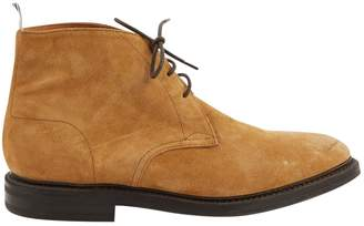 Thom Browne Camel Suede Boots