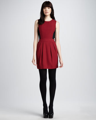 Theory Sleeveless Colorblock Dress