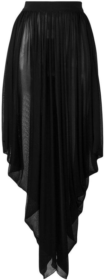 BalmainBalmain asymmetric waterfall maxi skirt