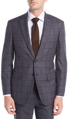 Brioni Windowpane Check Wool Two-Piece Suit