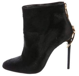 Tom Ford Ponyhair Round-Toe Ankle Boots