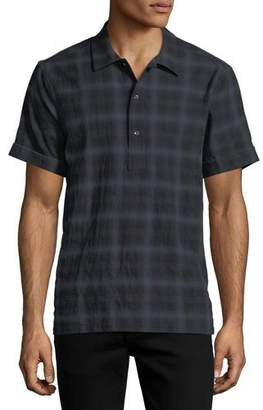 Ovadia & Sons Ashkelon Plaid Polo Shirt