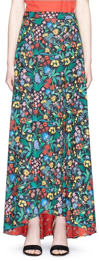 Alice + Oliviaalice + olivia 'Athena' floral print high low maxi skirt