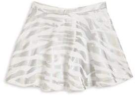 Kenzo Girl's Metallic Tiger Stripe Cotton Skirt