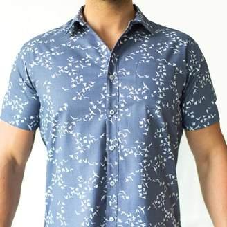 Blade + Blue Blue Flying Birds Print Short Sleeve Shirt - Norris