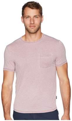John Varvatos Short Sleeve Burnout Crew with Raw Edge and Pocket K3767U2B Men's Clothing
